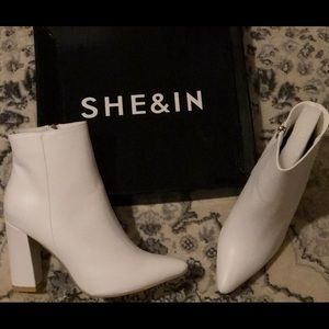 SHEIN Shoes   Brand New White Ankle